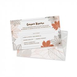 RSVP card autumn pocket