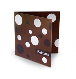 Birth announcement polka dot
