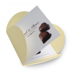 Wedding invitation chocolate BF