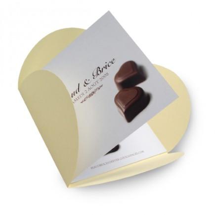 Faire part mariage chocolat BF