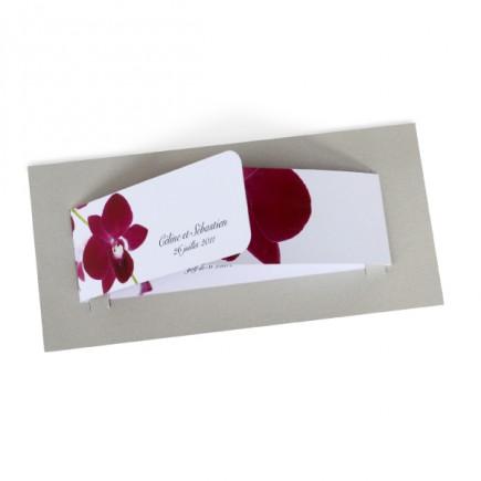 Faire part mariage orchidée wrap