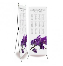 Table plan banner orchid violette wrap