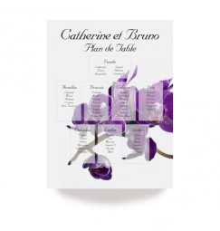 Table plan purple orchid