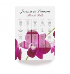 Table plan orchid wrap