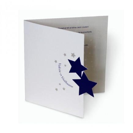 Wedding invitation stars