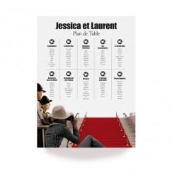 Table plan festival de cinéma