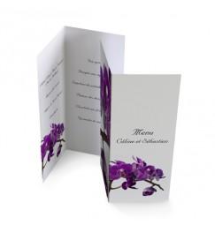 Menu individuel orchidée violette wrap