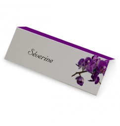 Marque place orchidée violette wrap