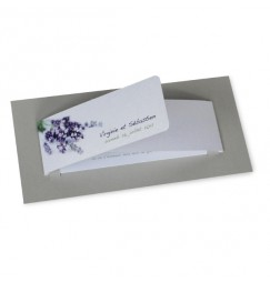 Wedding invitation lavender wrap