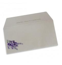 Enveloppe mariage lavande wrap