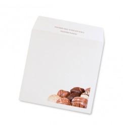 Enveloppe mariage chocolat triptyque