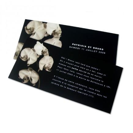Wedding invitation orchid NB