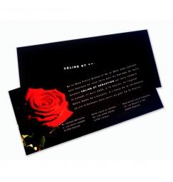 Faire part mariage rose noir et rouge