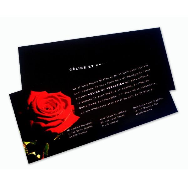 faire part mariage rose noir et rouge. Black Bedroom Furniture Sets. Home Design Ideas