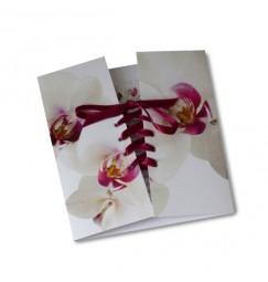 Wedding invitation corset pink orchid